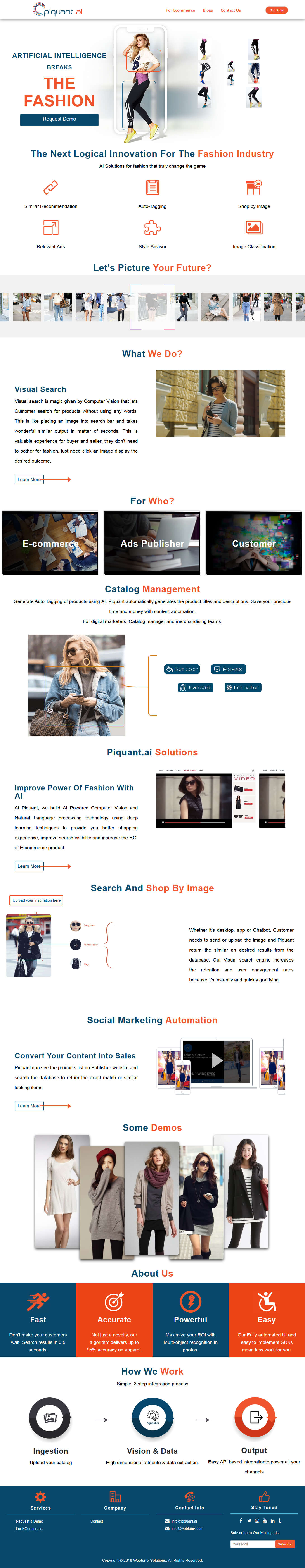piquant - fashion recommendation with machine learning